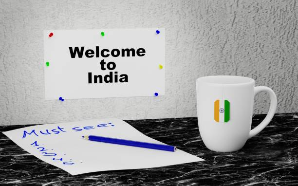 Welcome to India stock photo