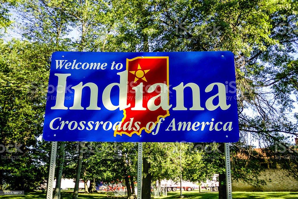 Indiana state cartello di benvenuto fotografie stock e for Piani di progettazione domestica indiana con foto