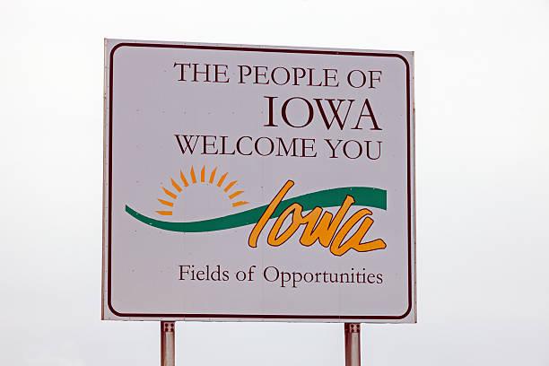Willkommen in Iowa Schild – Foto