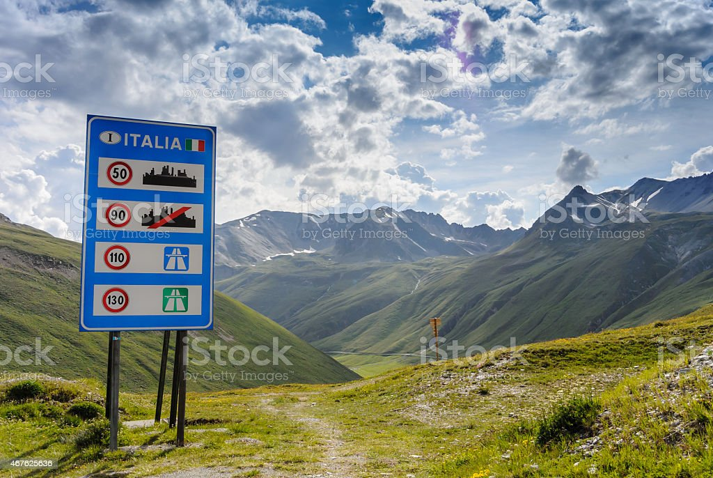 Welcome to Italy stock photo