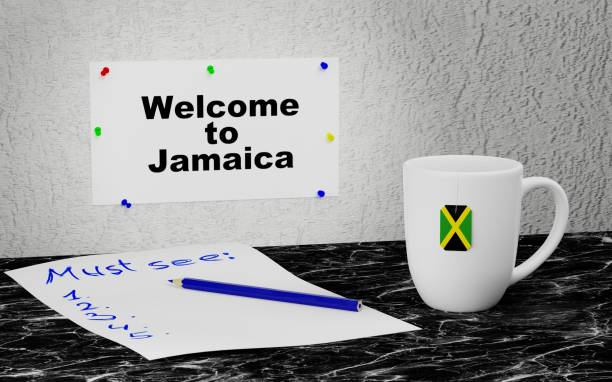 Welcome to Jamaica stock photo