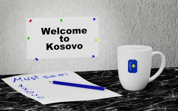 Welcome to Kosovo stock photo