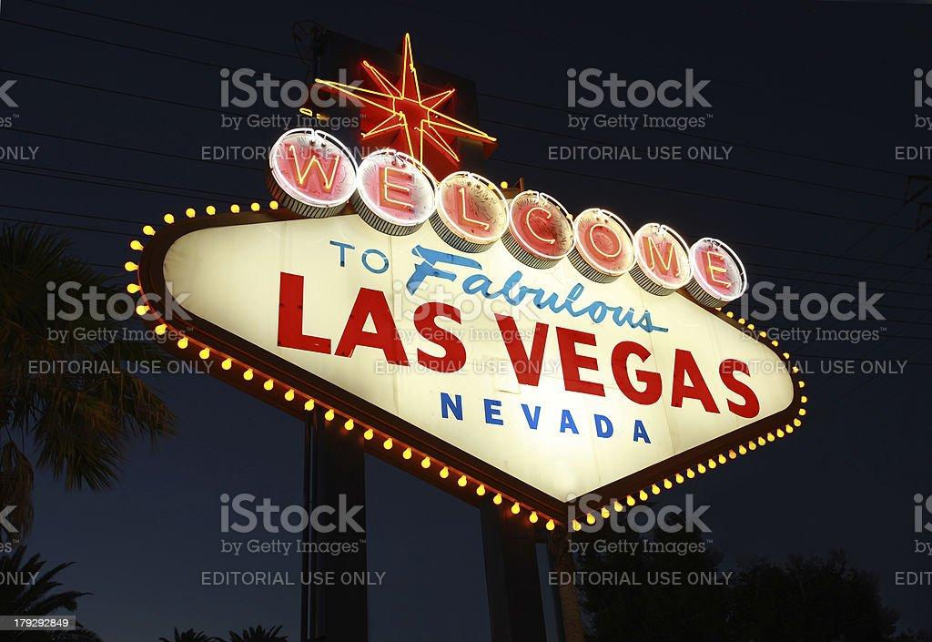 Welcome to Las Vegas royalty-free stock photo
