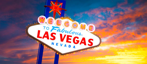 welcome to las vegas sign - clark county nevada stock pictures, royalty-free photos & images