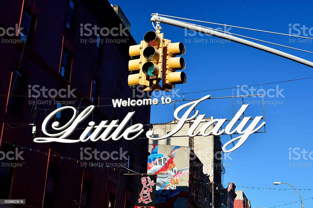 Welcome to Little Italy New York stock photo