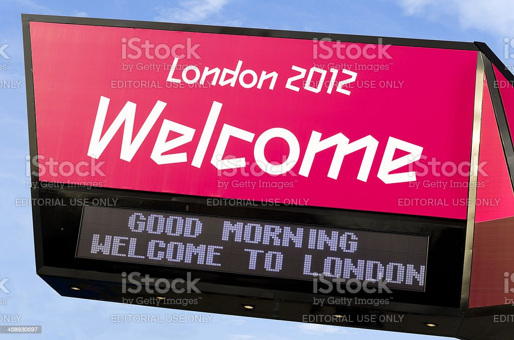 Welcome to London 2012 - sign stock photo