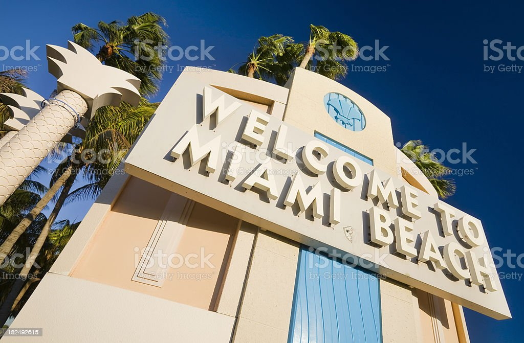 Welcome to Miami Beach stock photo