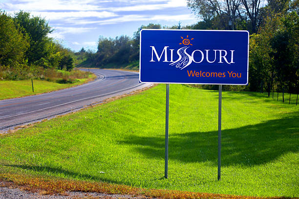 Welcome to Missouri Sign stock photo