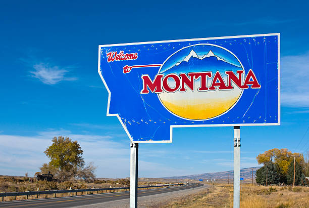 Welcome to Montana stock photo