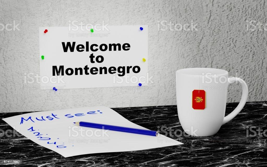 Welcome to Montenegro stock photo