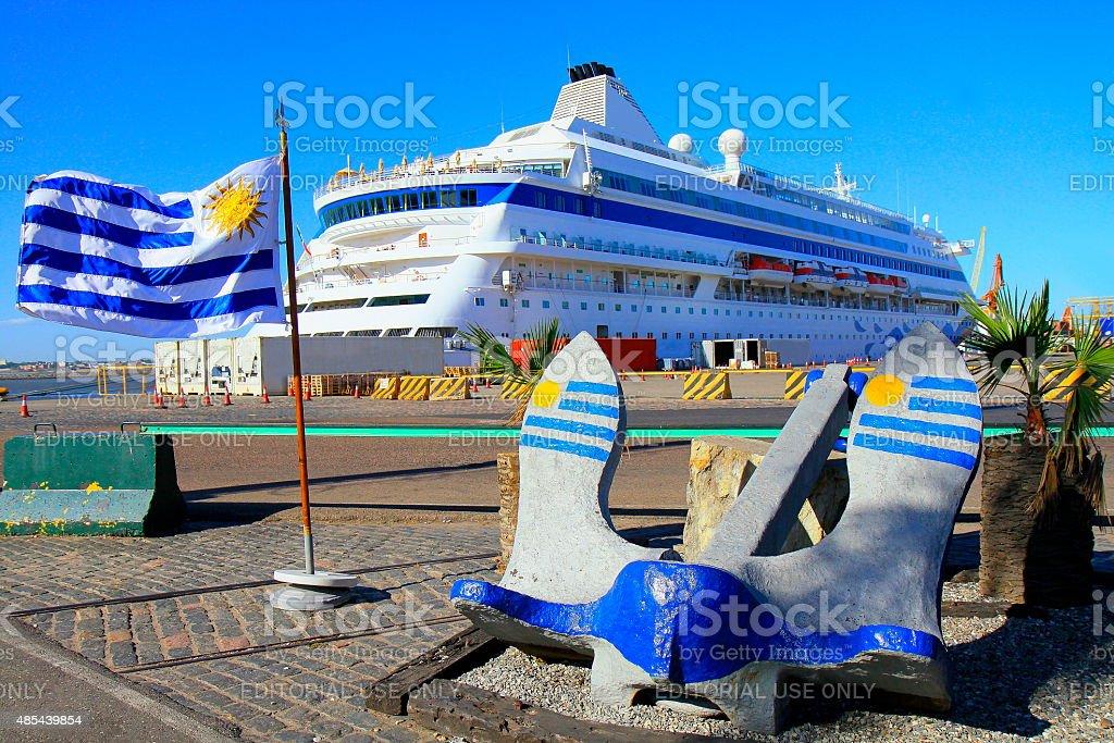 Bienvenido a Montevideo, Uruguay. - foto de stock
