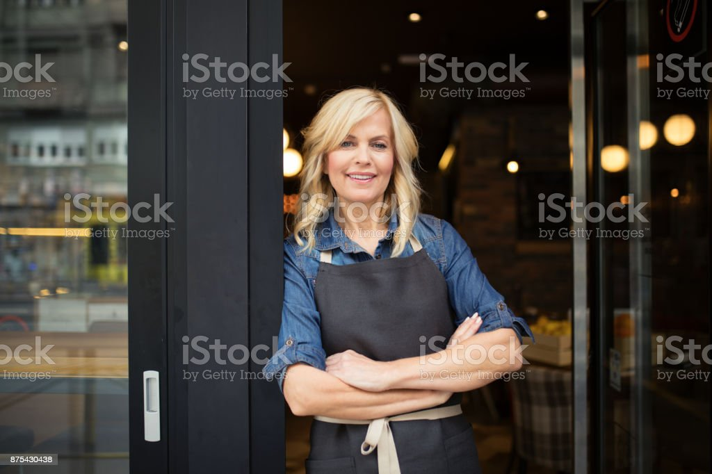 Welcome to my coffee shop - foto stock
