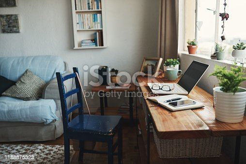 istock Welcome to my home office 1188875323
