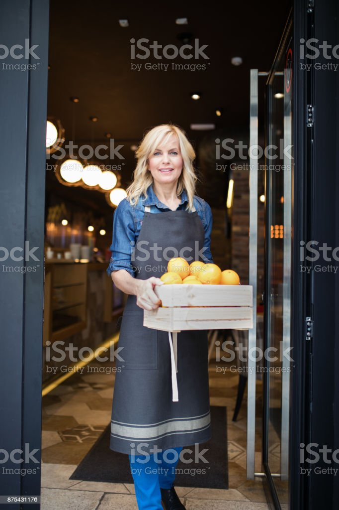 Welcome to my smoothie cafe stock photo