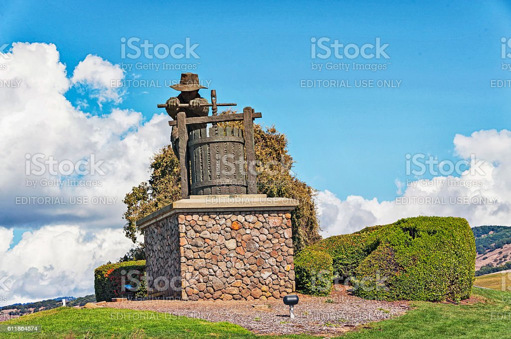 Welcome To Napa Valley View Point Stock Photo More Pictures Of