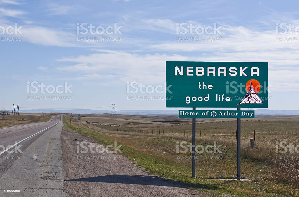 Welcome to Nebraska stock photo