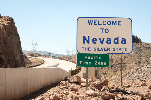 Welcome to Nevada Welcome to Nevada Sign nevada stock pictures, royalty-free photos & images