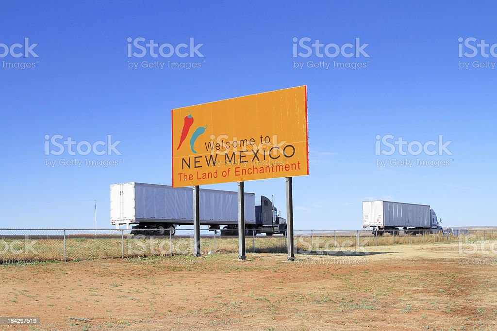 Welcome to New Mexico sign royalty-free stock photo