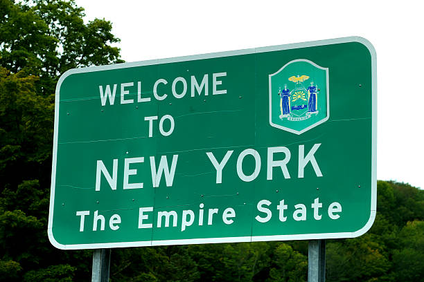 Welcome to New York sign stock photo