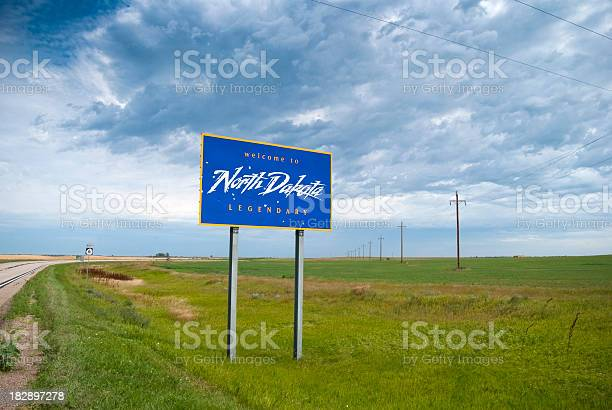 Welcome To North Dakota Stock Photo - Download Image Now