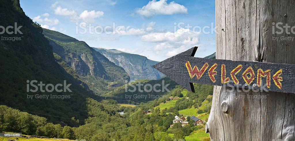 Welcome to Norway royalty-free stock photo