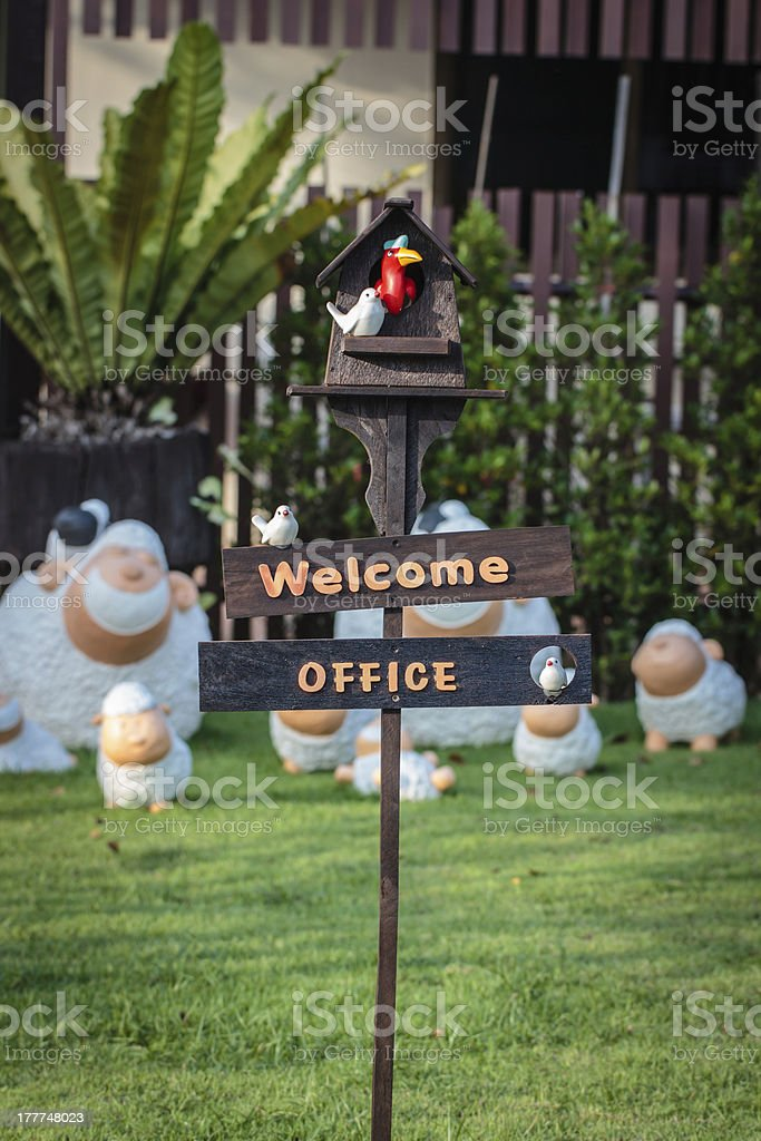 Welcome to office. royalty-free stock photo