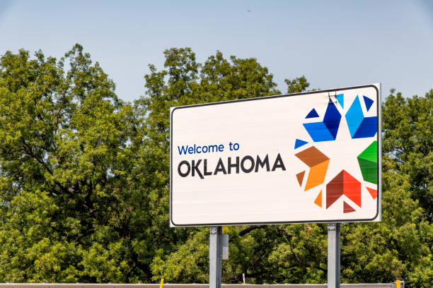Welcome to Oklahoma Sign stock photo