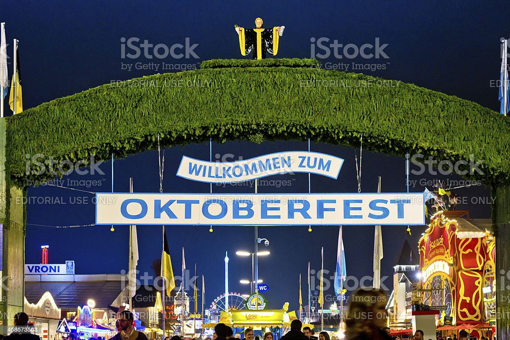 Welcome to Oktoberfest royalty-free stock photo