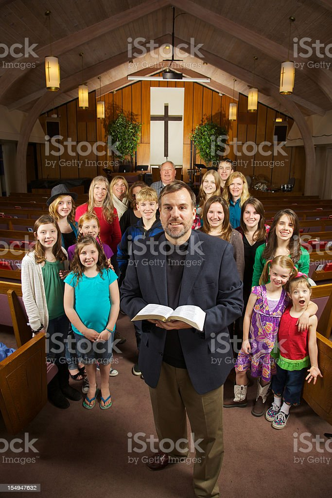 Welcome to Our Church Family stock photo