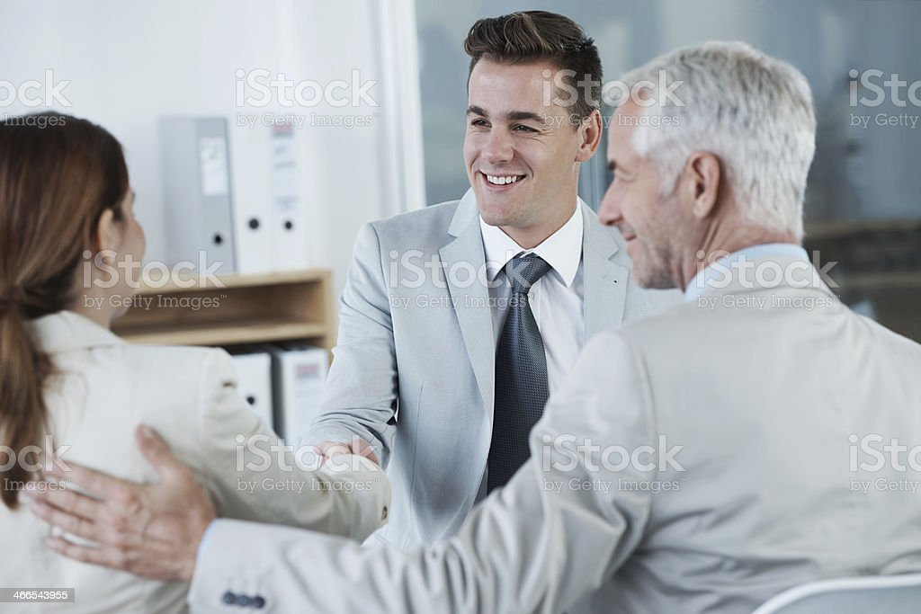 Welcome to our Company! stock photo