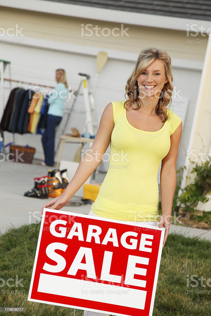 Welcome To Our Garage Sale royalty-free stock photo