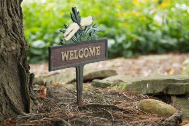 Welcome to Our Home stock photo