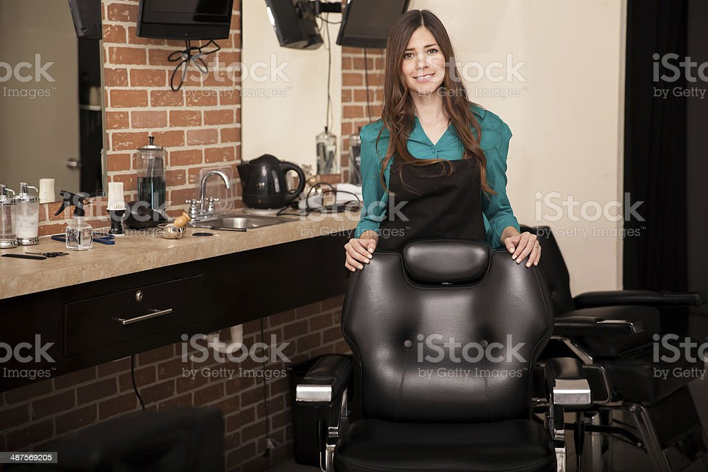 Welcome to our salon stock photo