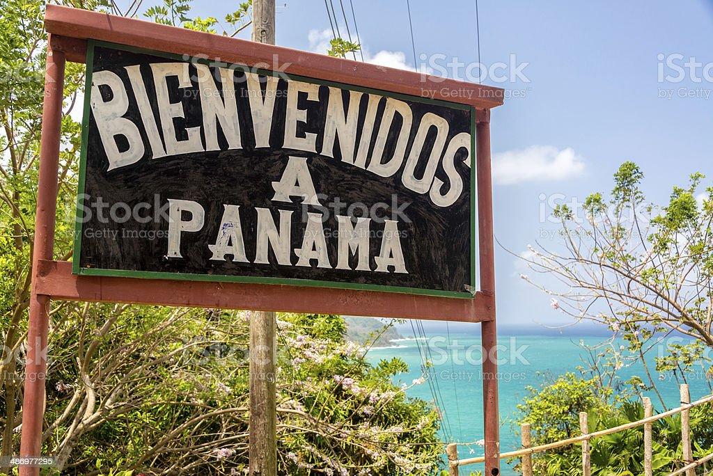 Welcome to Panama stock photo