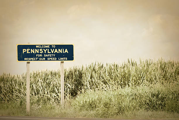 welcome to pennsylvania - place sign stock pictures, royalty-free photos & images