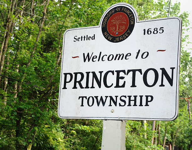 Welcome to Princeton stock photo