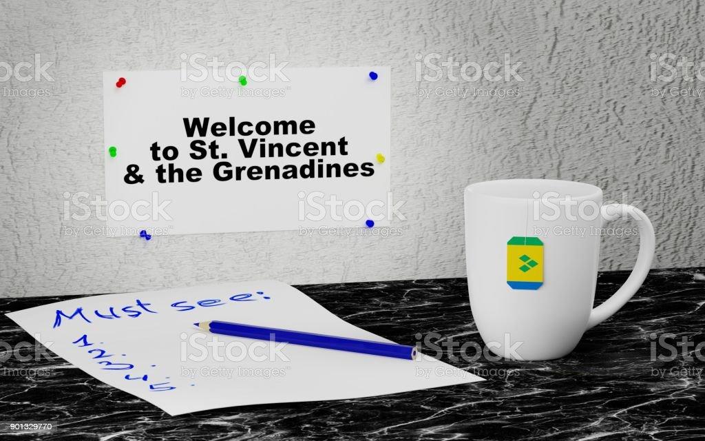 Bem-vindo a São Vicente e Granadinas - foto de acervo
