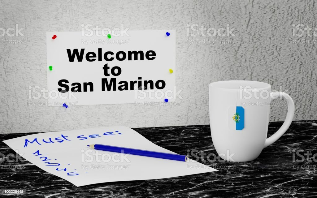 Welcome to San Marino stock photo