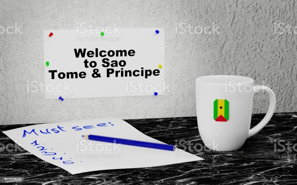 Welcome to Sao Tome and Principe stock photo