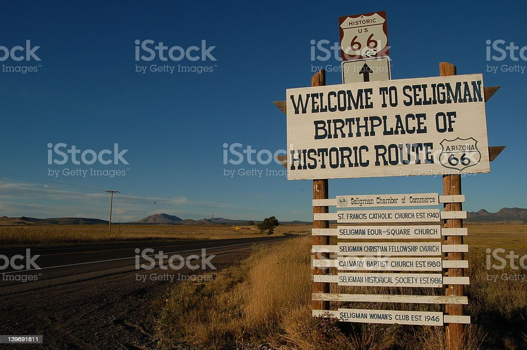 Welcome To Seligman royalty-free stock photo