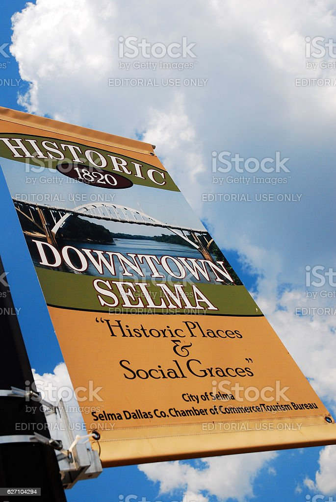 Welcome to Selma Alabama stock photo