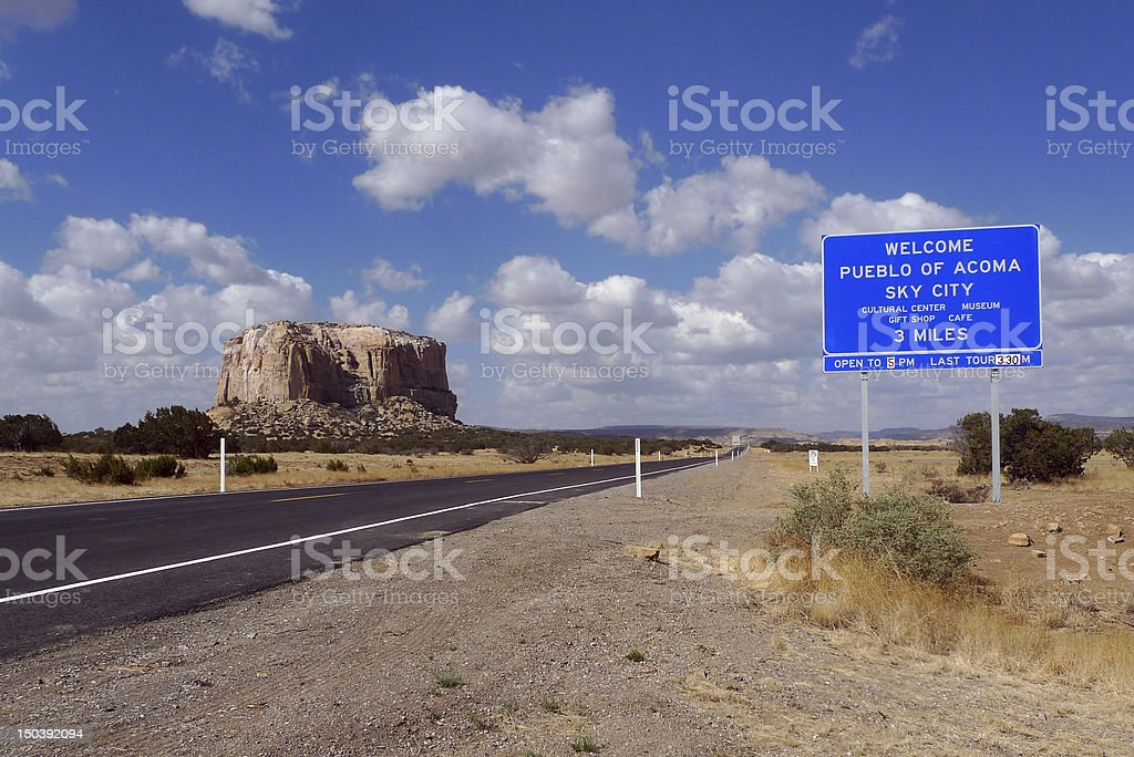 Welcome to Sky City royalty-free stock photo