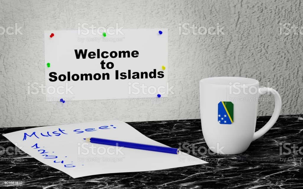 Welcome to Solomon Islands stock photo