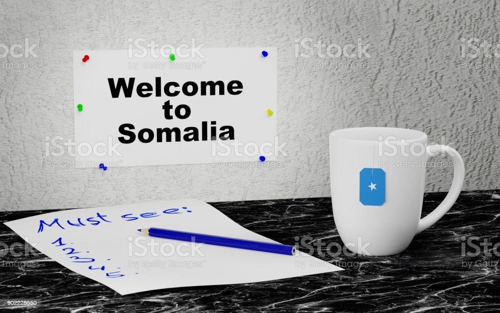 Welcome to Somalia stock photo