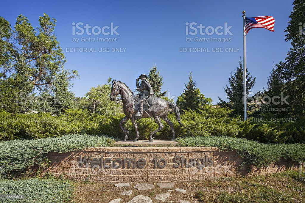 Welcome to Sturgis Sign stock photo