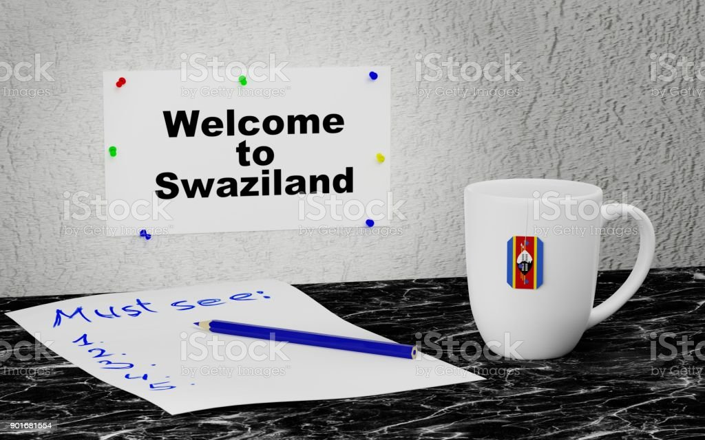 Welcome to Swaziland stock photo