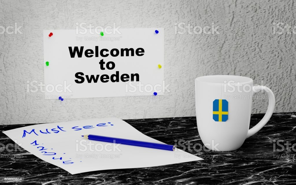 Welcome to Sweden stock photo