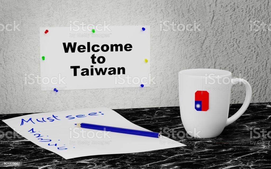 Welcome to Taiwan stock photo