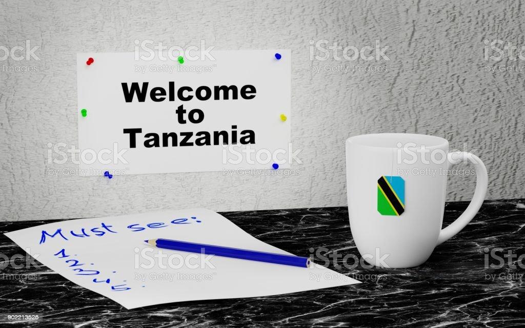 Welcome to Tanzania stock photo