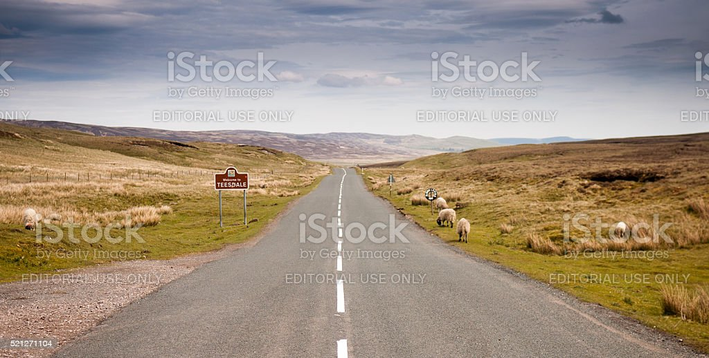 Welcome to Teesdale stock photo